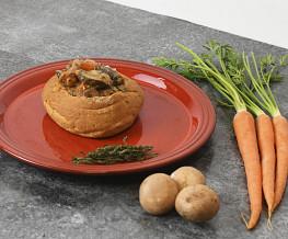 Vegetarisch stoofpotje in een Italiaanse bol
